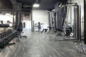 Gym flooring installation